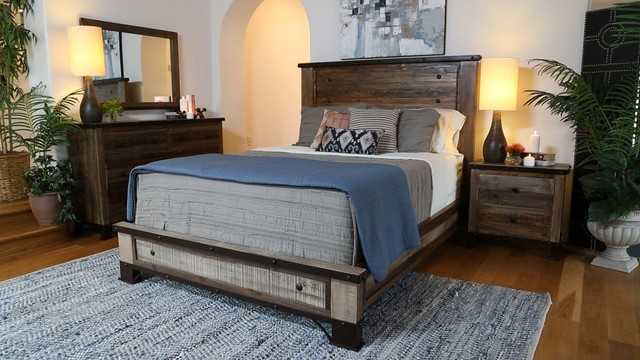 the haven bedroom collection rustic bedroom san