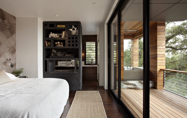 The Hillside House contemporary-bedroom