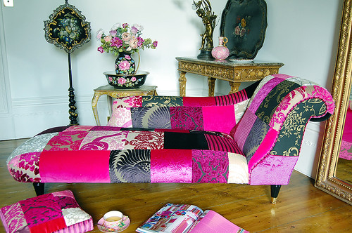 The Limoges Patchwork chaise