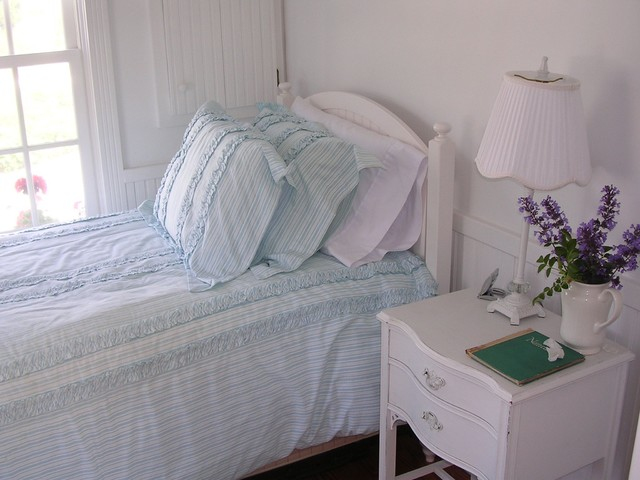traditional bedroom The Little House on Cape Cod