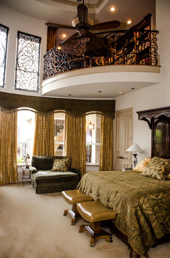 Bedroom - mediterranean bedroom idea in Dallas