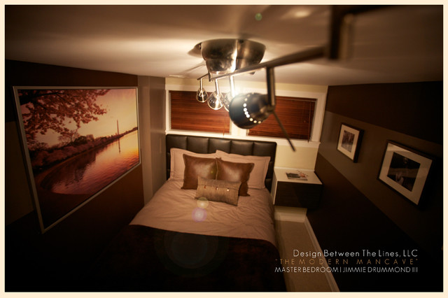 The Modern Mancave modern bedroom  The Modern Mancave Modern Bedroom DC  Metro by Design. Man Cave Bedrooms