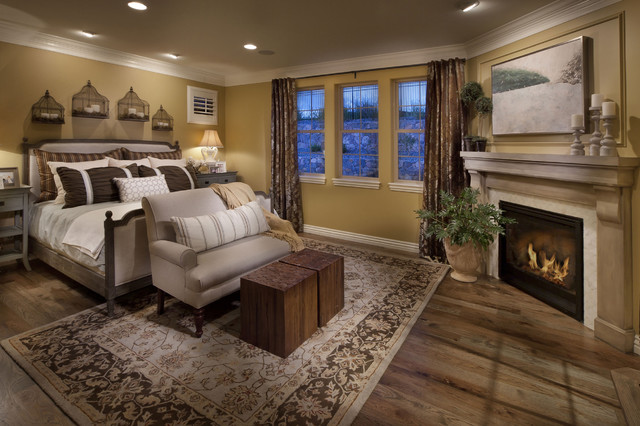The Overlook At Heritage Hills Mediterranean Bedroom: earth tone bedroom