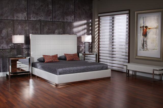 The Pembroke Square Platform Bed Modern Bedroom Miami By El Dorado Furniture