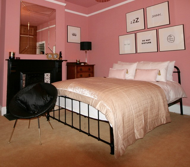 The Pink Bedroom Eclectic Bedroom North West By
