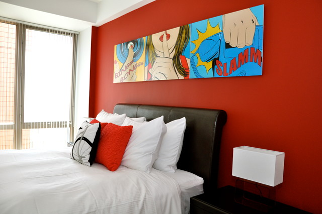 The Red Room eclectic-bedroom