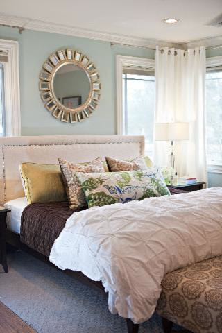 The softness of Sherwin Williams  bedroom