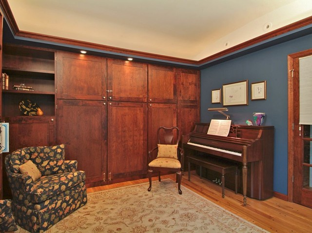 the sound of music - the guest / music room eclectic-bedroom