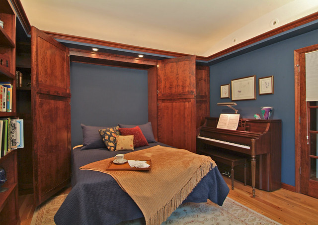 the sound of music - the guest / music room eclectic bedroom