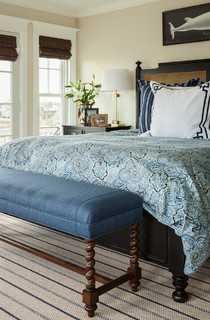 The Summer House Beach Style Bedroom Portland Maine By Js Interiors Llc