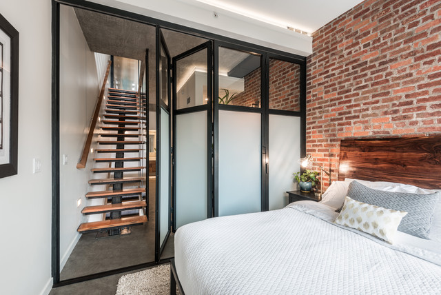 The Urban Sanctuary Industrial Bedroom Seattle By Board Vellum Inspiration Bedrooms And More Seattle Ideas Design