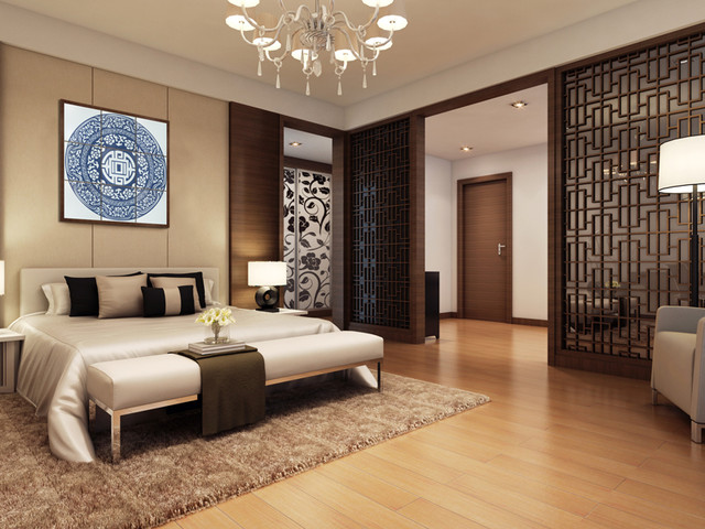 Theme Wall Tile Modern Bedroom