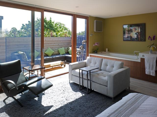 Third floor master bedroom and bathroom addition modern-bedroom