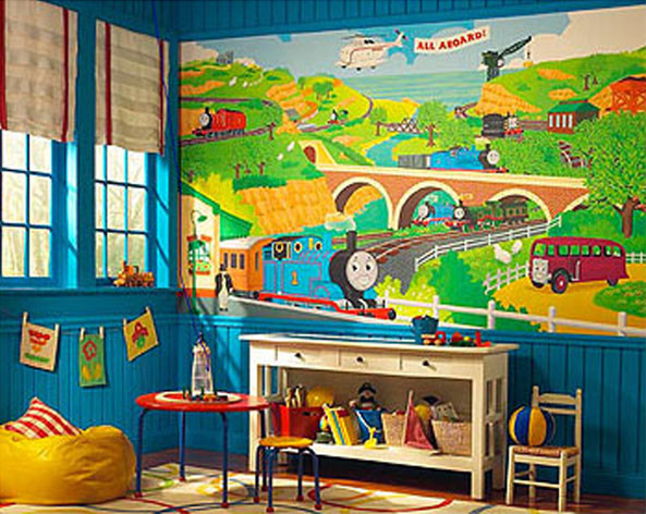 Thomas-Train Bedding and Room Decorations - Modern - Bedroom ...