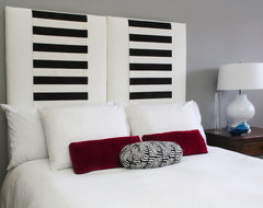 Three in One Upholstered Hanging Headboard eclectic-bedroom