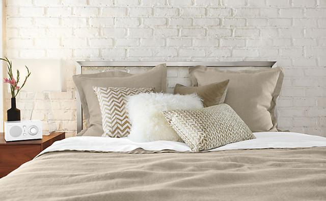 Tibetan Ivory Pillow by R&B modern-bedroom