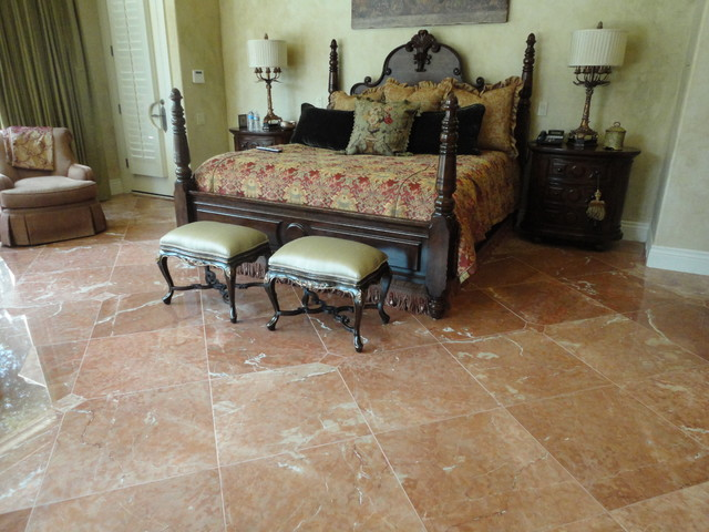 Tile/Marble Flooring traditional-bedroom