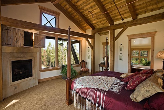 Timber Frame Bedroom contemporary-bedroom