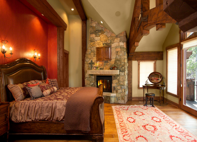 Timber Frame Home Rustic Bedroom By Sitka Log Homes