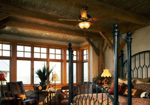 Timber Frame Inc traditional-bedroom