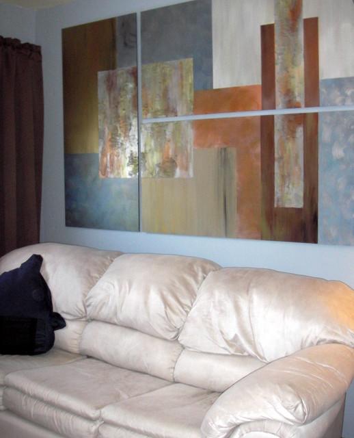 Tiny Bachelor's Apartment Artwork contemporary-bedroom