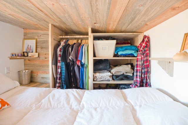 Tiny House Loft Closet Storage Contemporary Bedroom