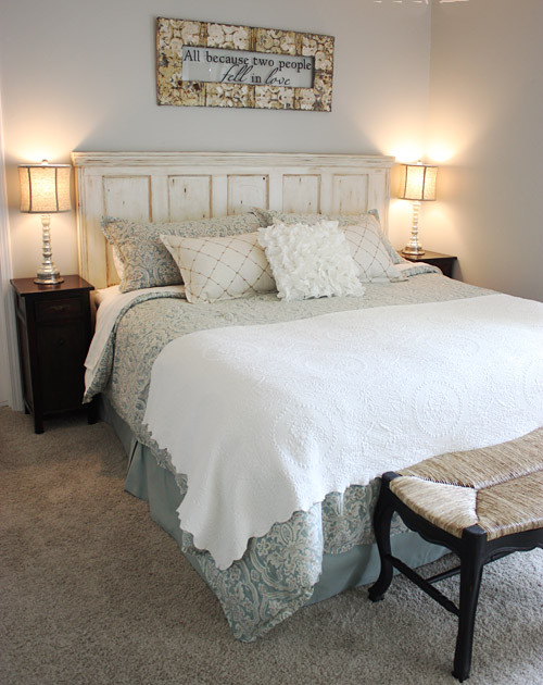Traditional bedroom - Lit king size 180x200 ...