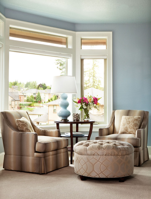 Basic, Sophisticated Hues traditional-bedroom