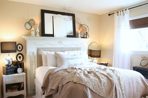 traditional bedroom How to Decorate a Mantel