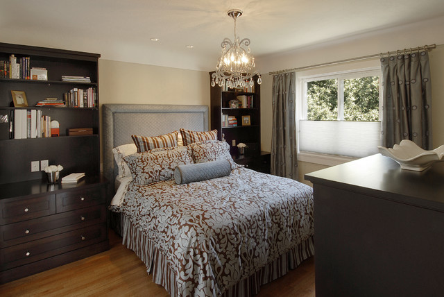 Example of a classic bedroom design in Vancouver. Small Bedroom Storage   Houzz