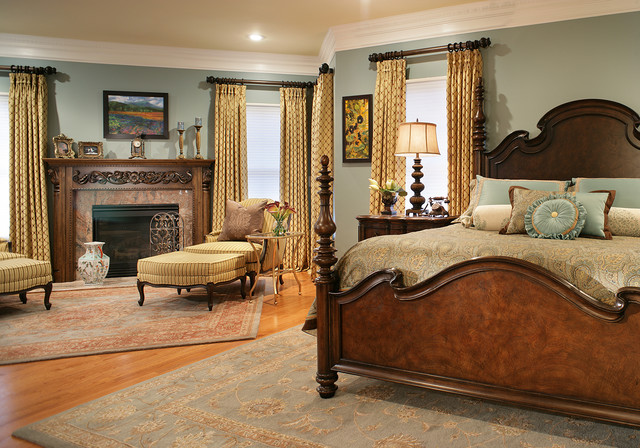 Colorful Master Bedroom Designs. Beautiful Bedding traditional bedroom