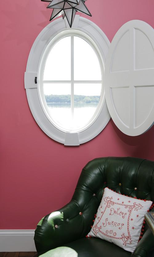 Do you make round shutters for round porthole windows for Window treatment for oval window