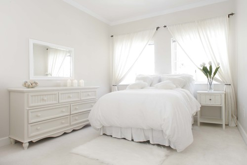 traditional bedroom Color of the Month: Decorating with White