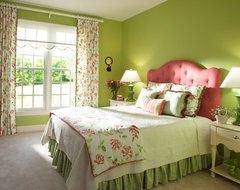 Pink and Green Bedroom traditional-bedroom
