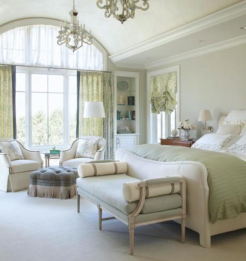 светло зеленый белый цвет классический стиль