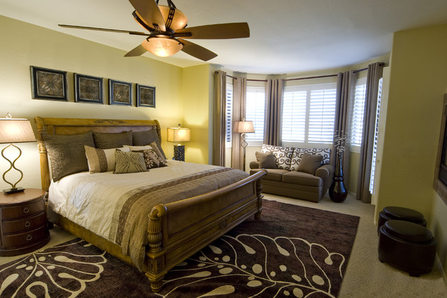 eclectic bedroom by Decorating Den Phoenix