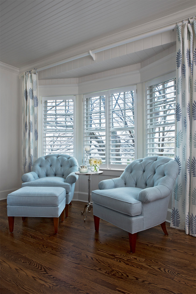 Beach style bedroom photo in Other