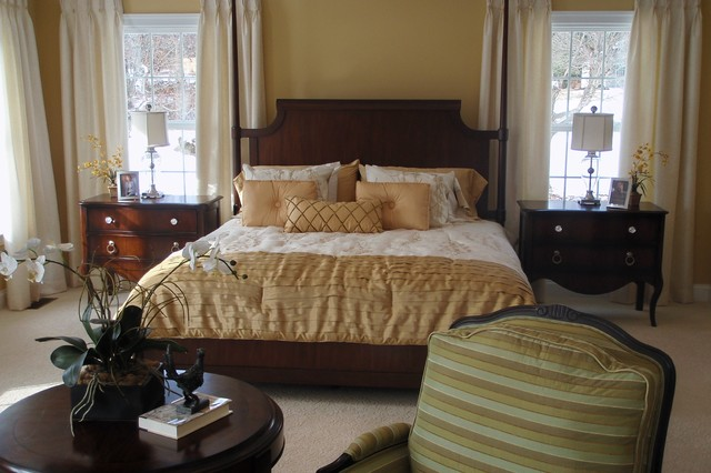 Traditional Master Bedroom Model Home