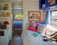 Trailer Chic- Strathmere, NJ eclectic-bedroom
