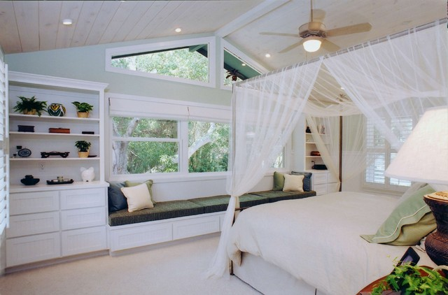 tropical bedroom by Susan J  Moss, ASID