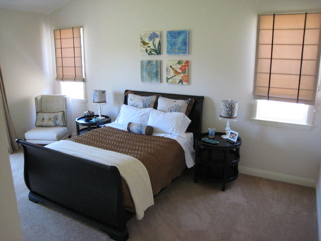 Transitional Americana traditional-bedroom