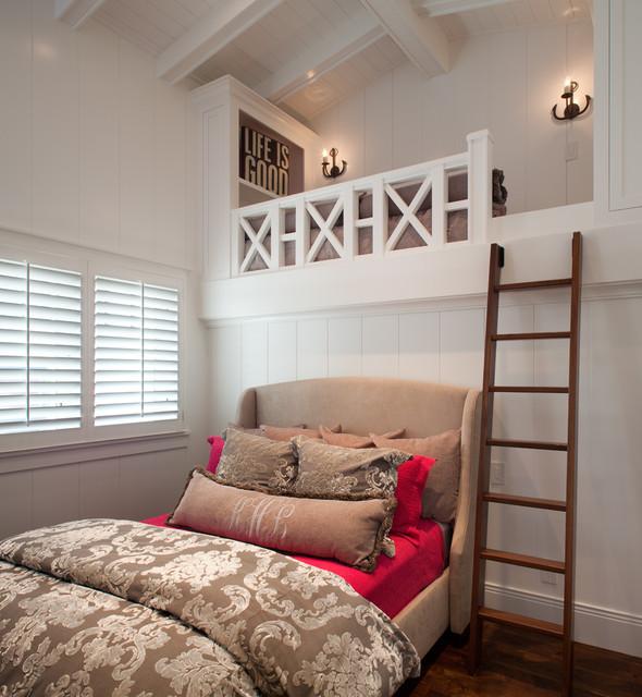 Transitional Beach House beach-style-bedroom