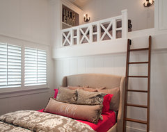Transitional Beach House contemporary bedroom