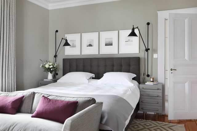 Family Home in Geneva by the lake transitional-bedroom