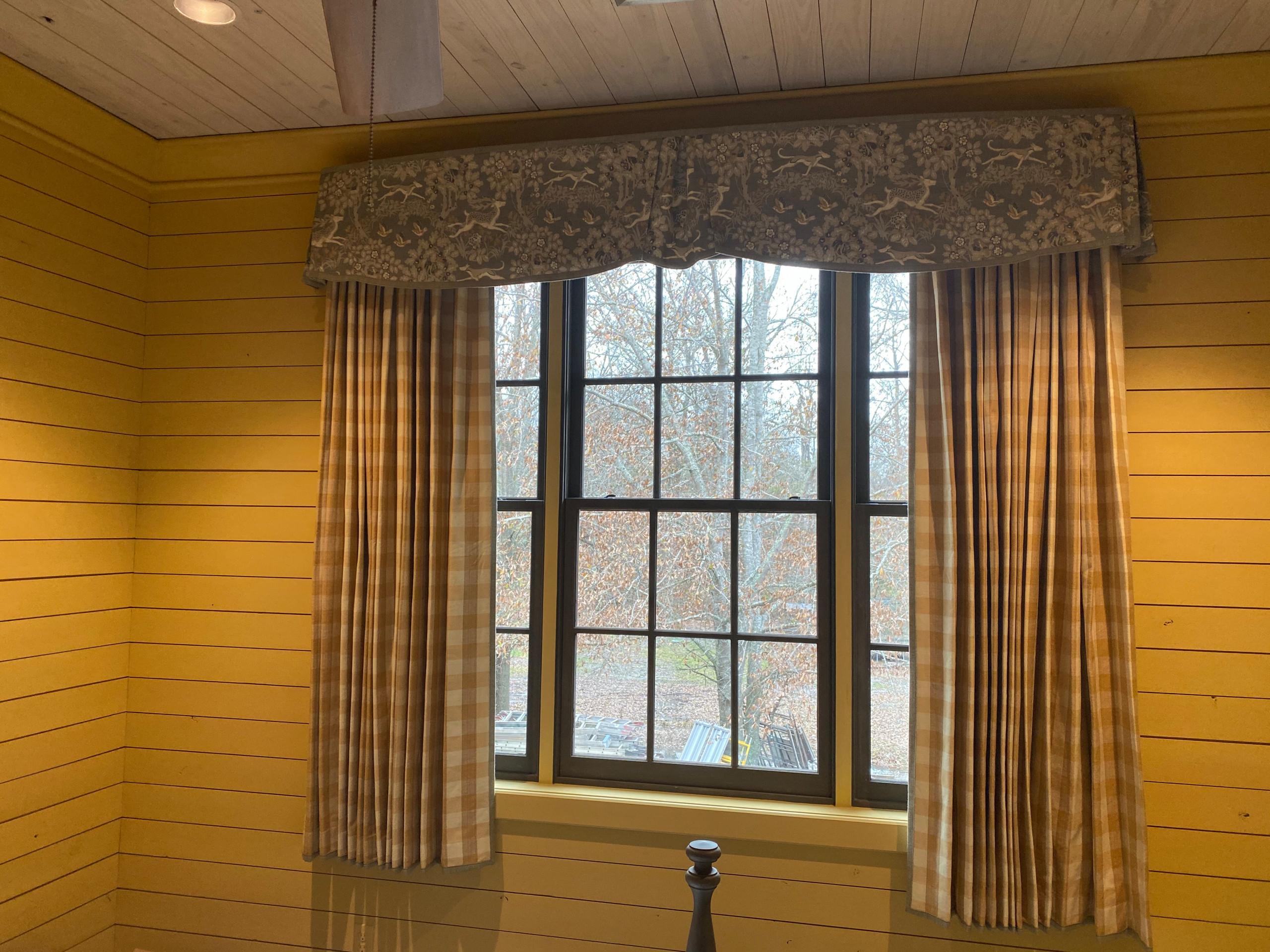 Transitional Bedroom Window Treatment