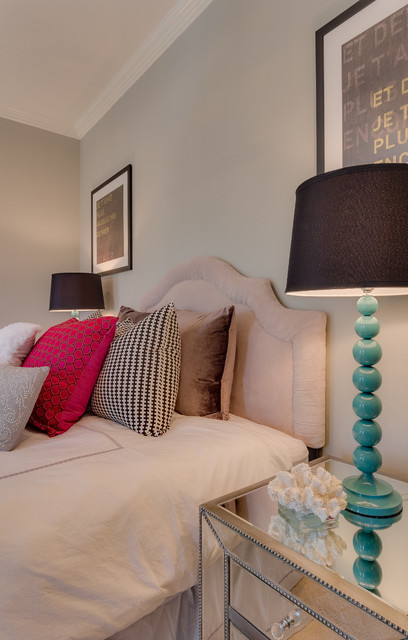 Transitional Girl Bedroom With Neutral Tones And Pops Of Color Transitional Bedroom Dallas