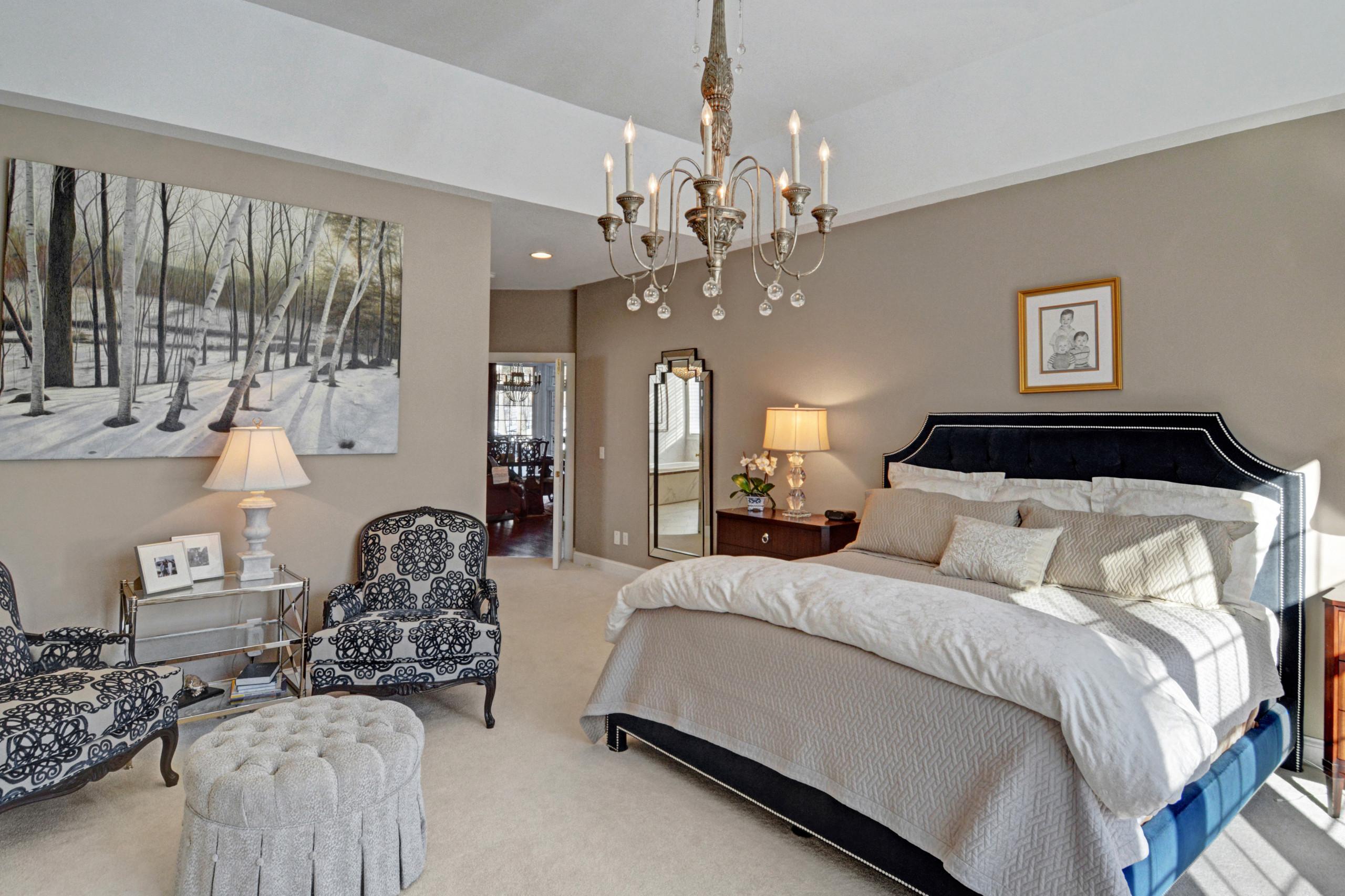 Transitional Master Bedroom After Design
