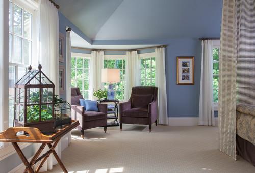 Transitional Master Bedroom- Sitting Area
