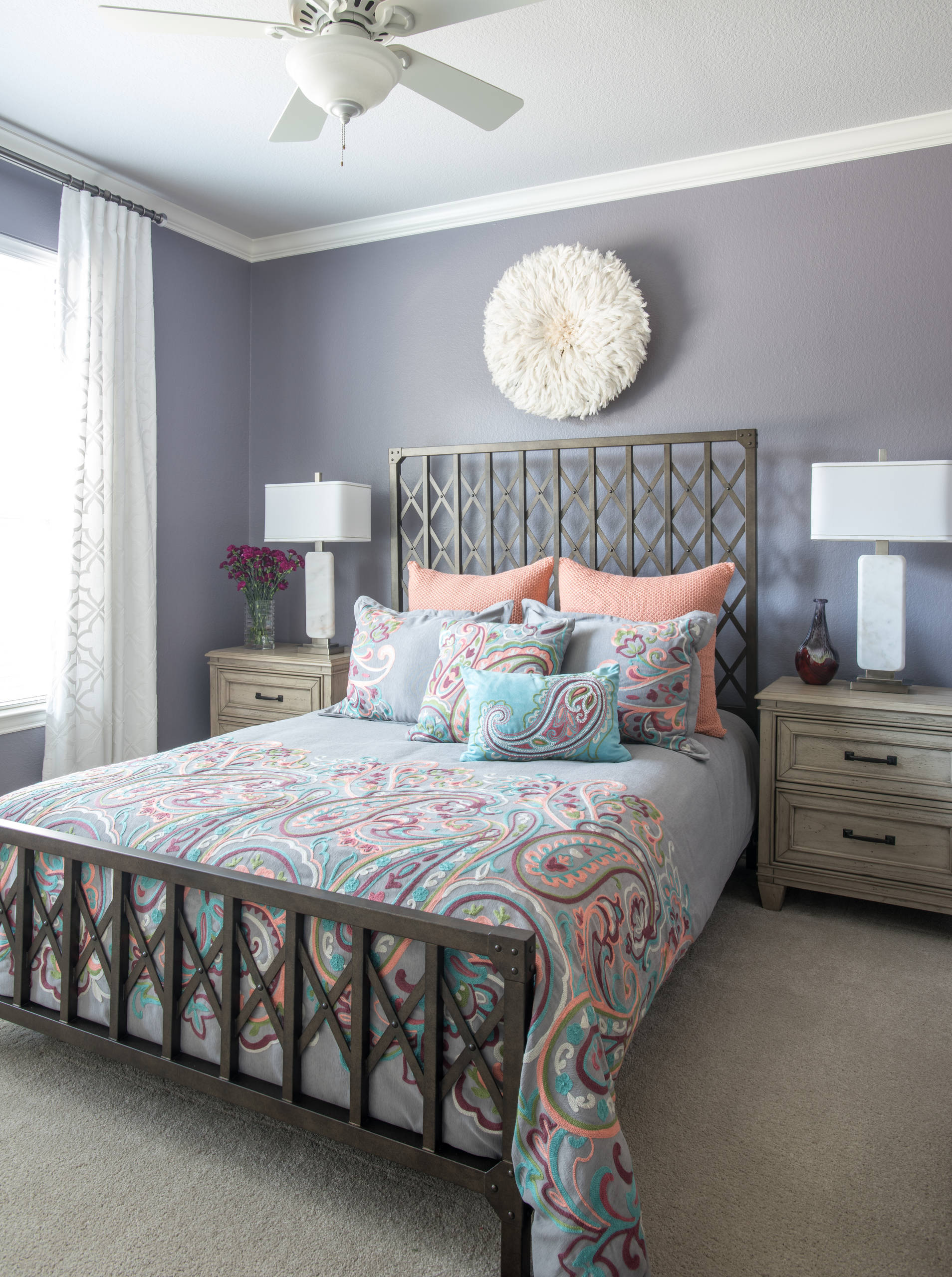 75 Beautiful Bedroom With Purple Walls Pictures Ideas February 2021 Houzz