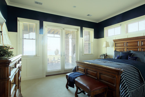 Color crush navy blue for Blue beach bedroom ideas
